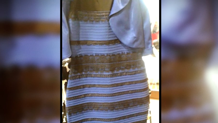 Gold and white or blue and black dress trick