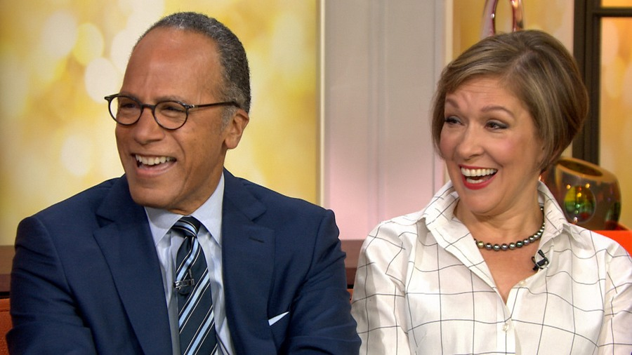 Carol Hagen looking happy with her husband Lester Holt