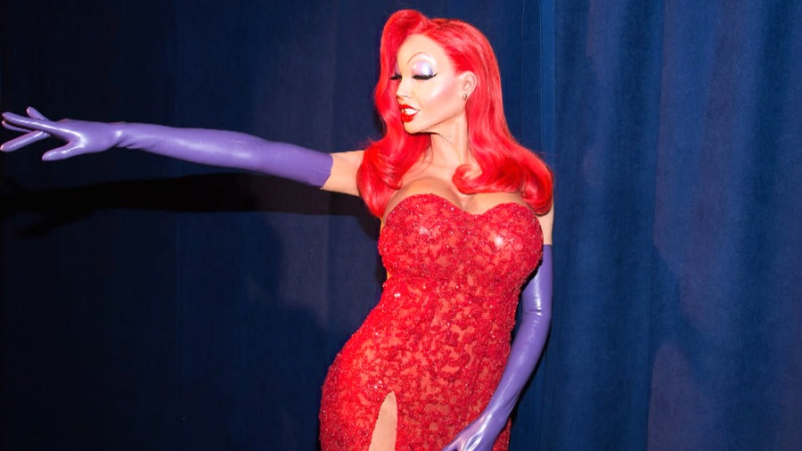 heidi klum wins celebrity halloween as jessica rabbit - Best Halloween Costumes For Tall Guys
