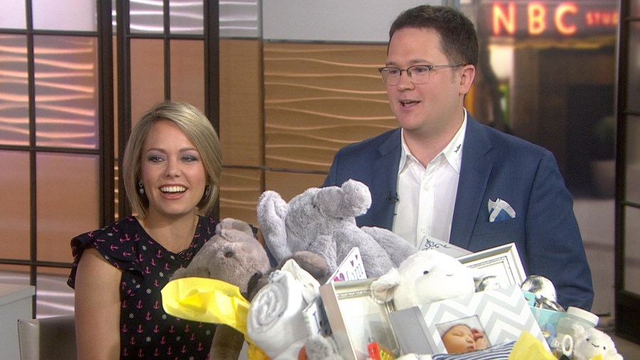Dylan Dreyer and Brian Fichera are busy buying baby stuff