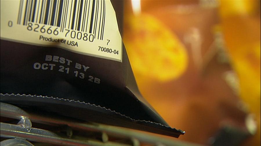Expiration dates on food