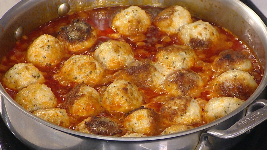 Alton Brown's Chicken Parmesan Balls - TODAY.com
