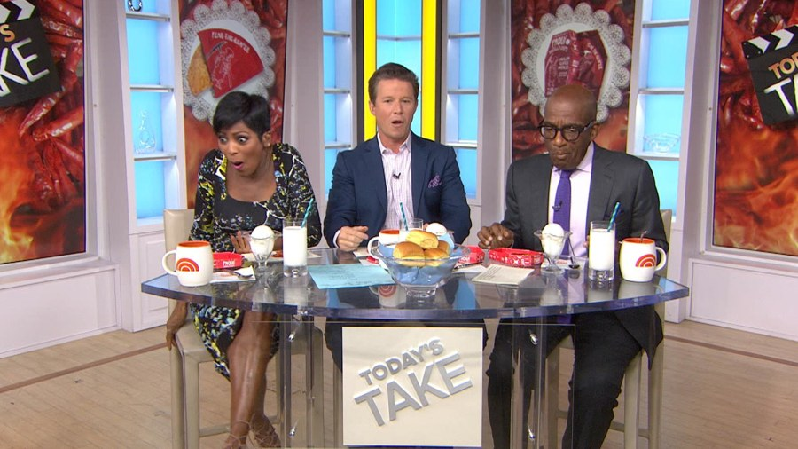 Watch Tamron Hall's epic reaction to tasting world's hottest chip