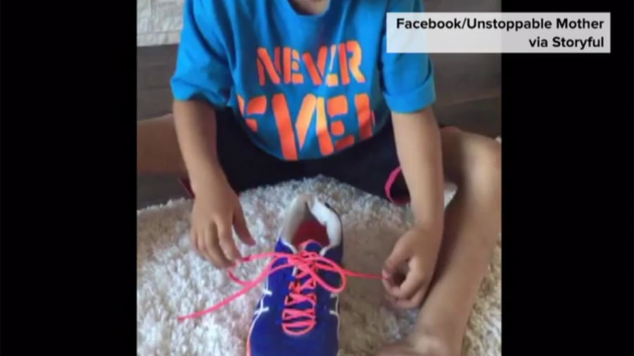Moms video of how to tie shoelaces goes viral today watch the magic technique to teach kids to tie their shoes ccuart Choice Image