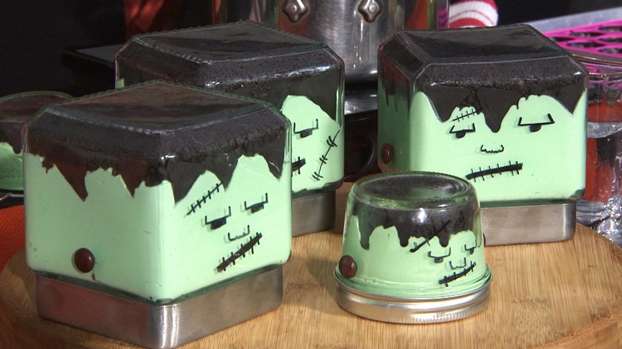 Halloween-inspired treats: Frankenstein cheesecake and 'slime'-filled spiders