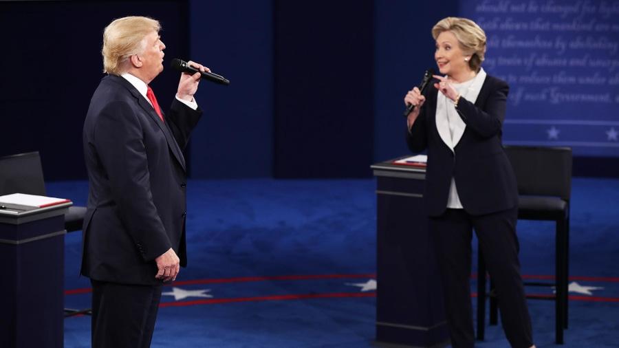 Image result for trump vs clinton debate