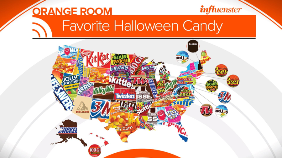 here are the most popular candies across the us - 2017 Halloween Candy