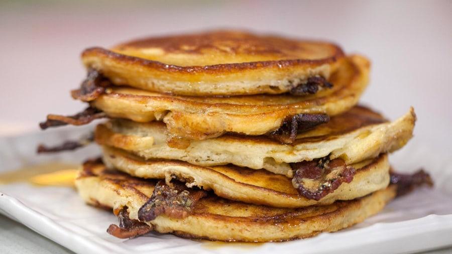 Elvis pancakes: Ryan Scott shows how bacon makes them better