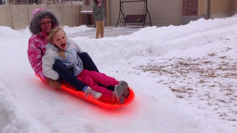 Image result for 300-foot luge run in backyard