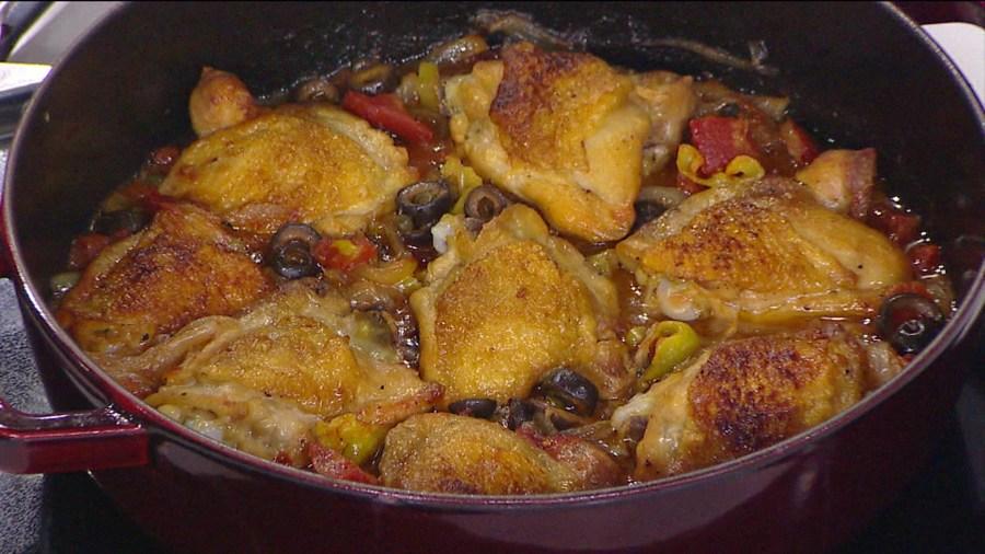Braised chicken with pepperoncini, olives: Try Ryan Scott's Mediterranean diet recipe