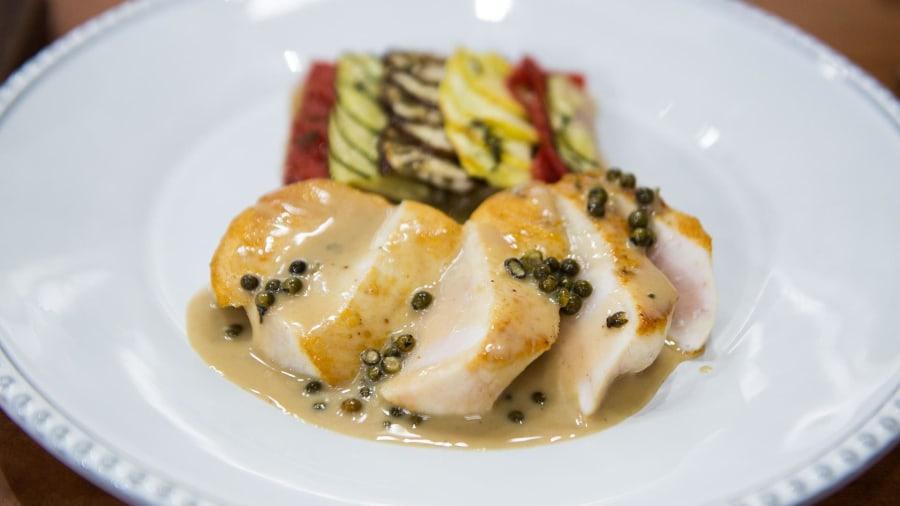 Romantic french recipes swordfish au poivre byaldi for French fish recipes