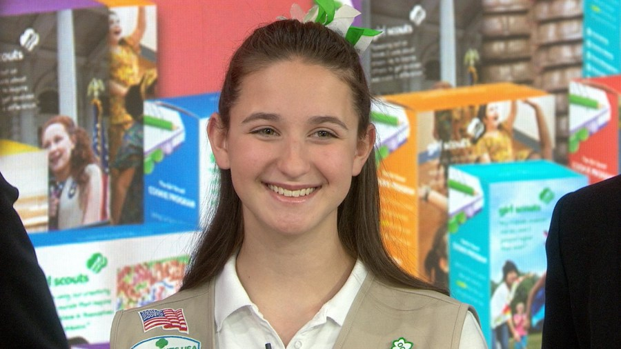 Meet the top Girl Scout Cookie seller: More than 100,000 boxes!