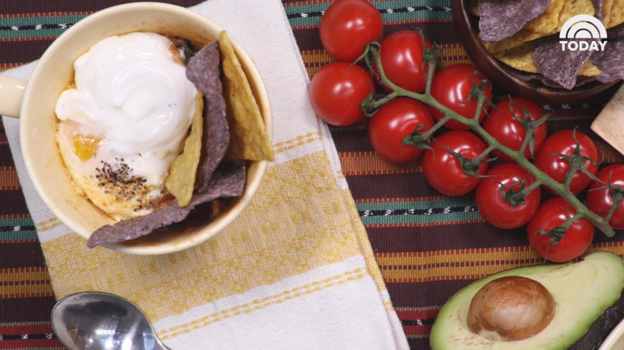 How to make huevos rancheros in a mug
