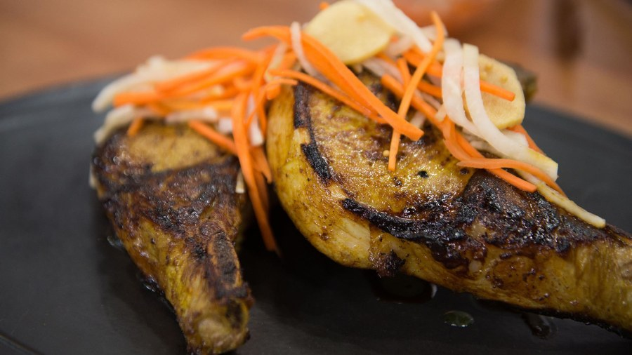 Maple And Turmeric Marinated Pork Chops Top Chef Alum Demonstrates
