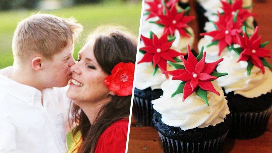 12-year-old boy with Down syndrome opens cupcake shop with mom