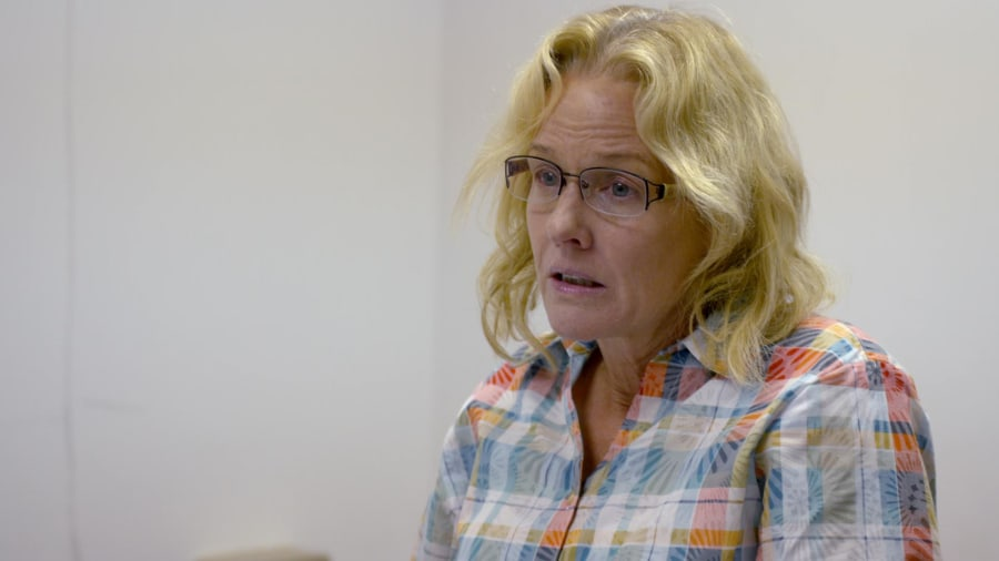 Penelope Ann Miller on playing Joyce Mitchell in Lifetime ...