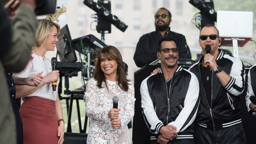 New Kids on the Block sing 'One More Night,' get surprised by Paula Abdul