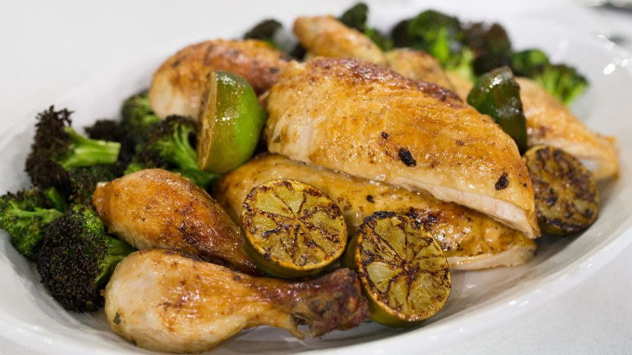 Roasted Chicken With Crispy Broccoli Today