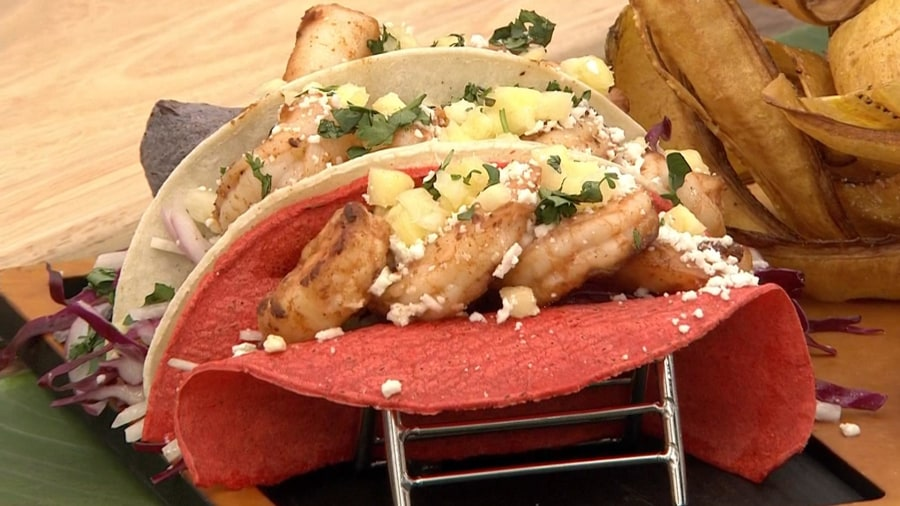 Firecracker shrimp tacos: Make this signature dish from Volcano Bay