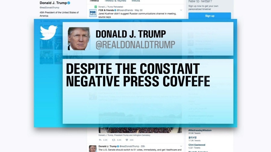 Trump creates a Twitter 'covfefe'