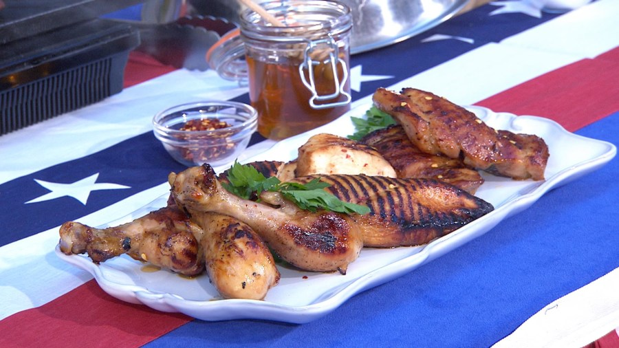 Memorial Day cookout recipes: Grilled chicken, potatoes and patriotic desserts
