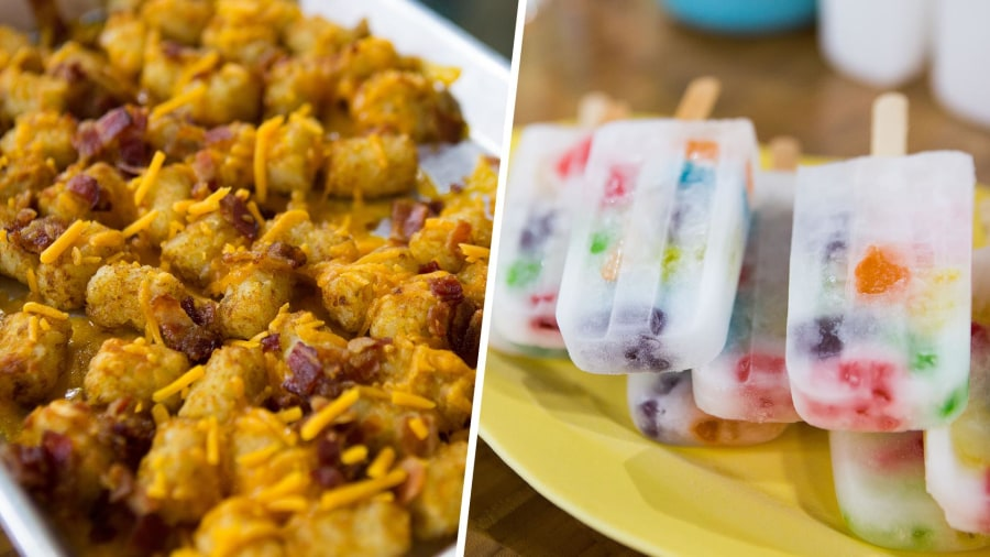Make Tater Tot nachos, gummy bear ice pops for National Junk Food Day