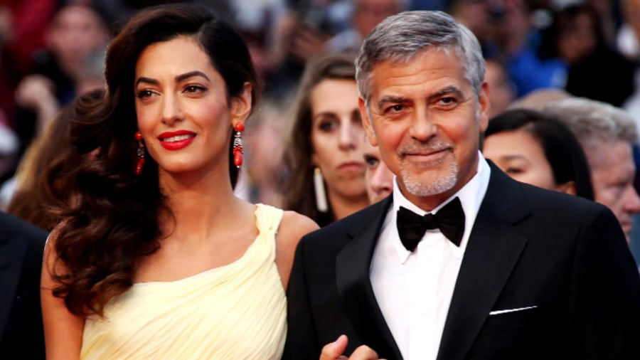 Image result for george clooney twins