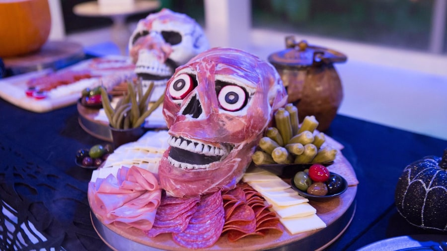 Pumpkin ice bowl, mummy hot dogs, eyeball shots: Make these spooky Halloween snacks
