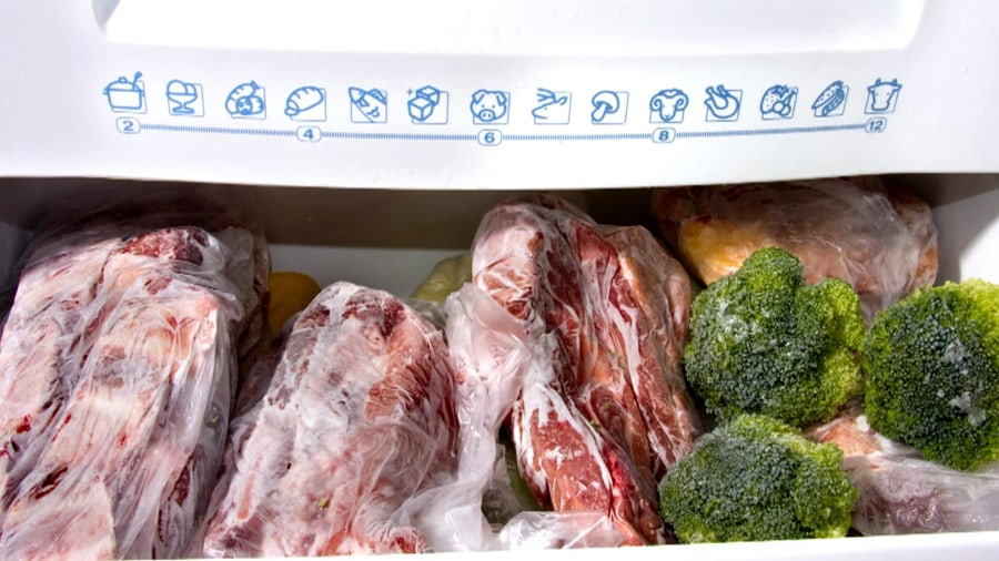 How long do meat, fruit, and ice cream last in the freezer?
