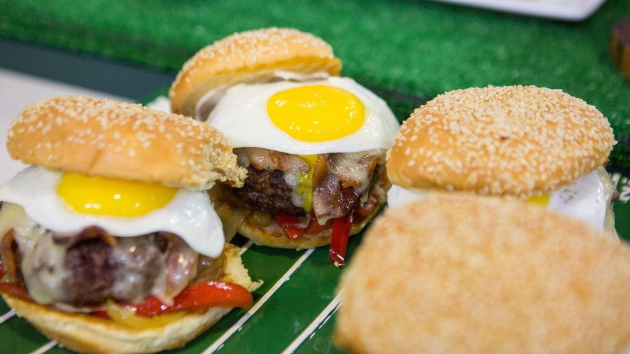 Make mile-high burgers, bratwurst with sauerkraut for Thursday Night Football