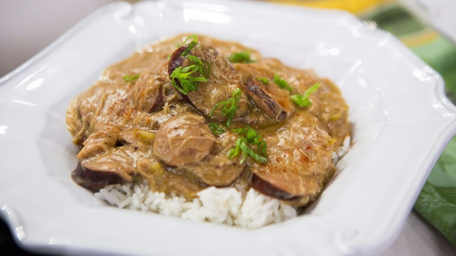 Make a delicious Southern-style dinner of spicy gumbo and sweet cornbread