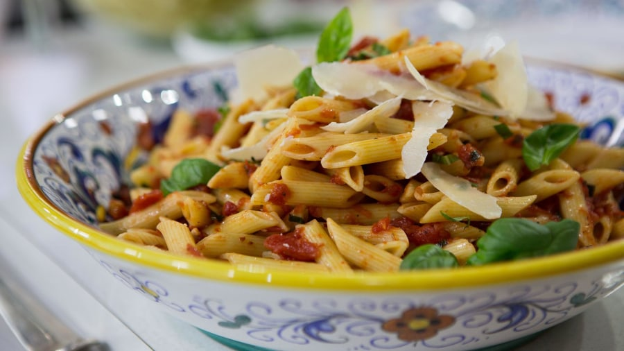 Valerie Bertinelli shares her recipe for spicy penne arrabbiata