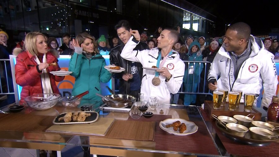 See figure skater Adam Rippon try Korean fried chicken