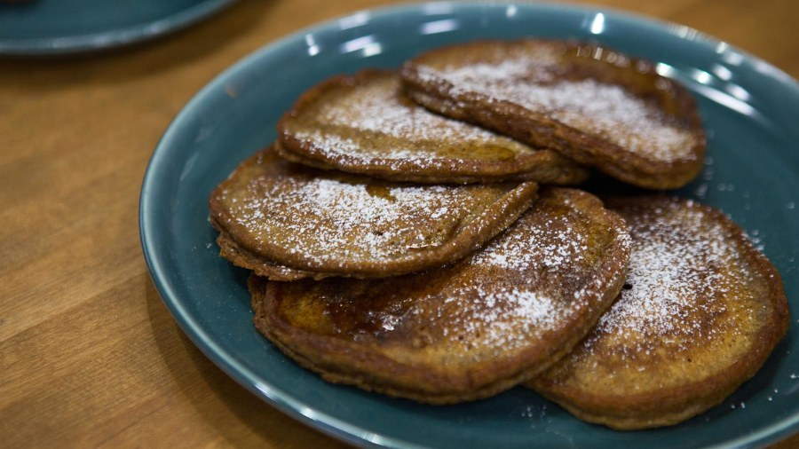 Sweet potato pancakes today make a delicious vegan breakfast sweet potato pancakes eggplant bacon ccuart Images