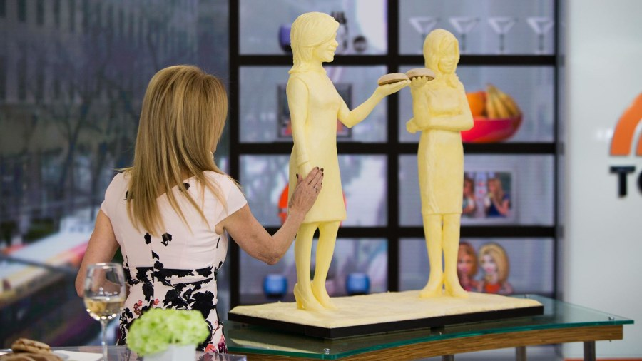 See Kathie Lee Gifford and Hoda Kotb sculpted (in butter!)