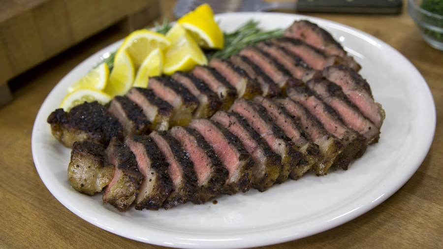 Make Dad a Father's Day feast of grilled steak and cheesy potatoes