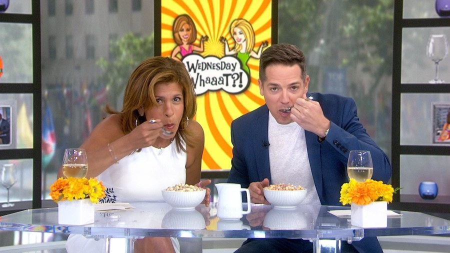 Hoda Kotb and Jason Kennedy try Dippin' Dots cereal
