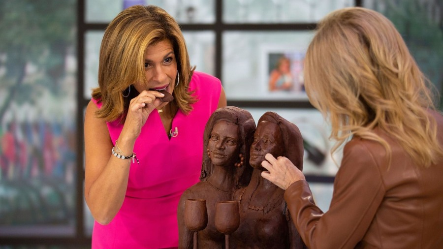 Kathie Lee and Hoda taste a chocolate bust of themselves!