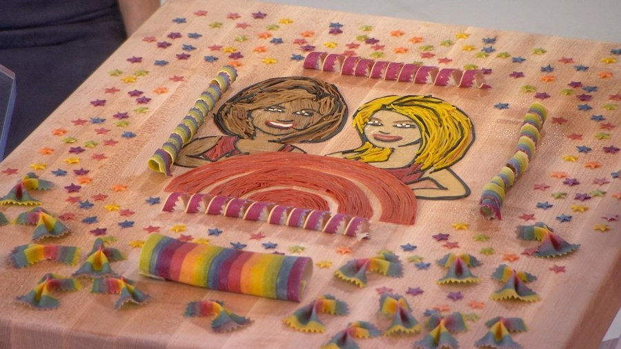 See KLG and Hoda rendered in beautiful pasta artwork