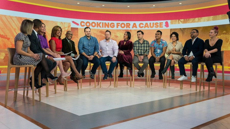Al Roker and top chefs surprise California wildfire firefighters