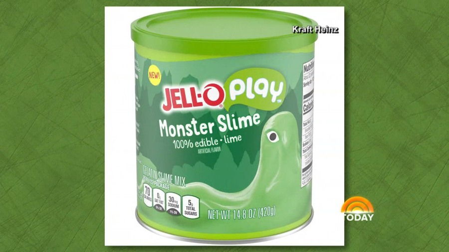 Jell-O to roll out edible slime in strawberry and lime flavors