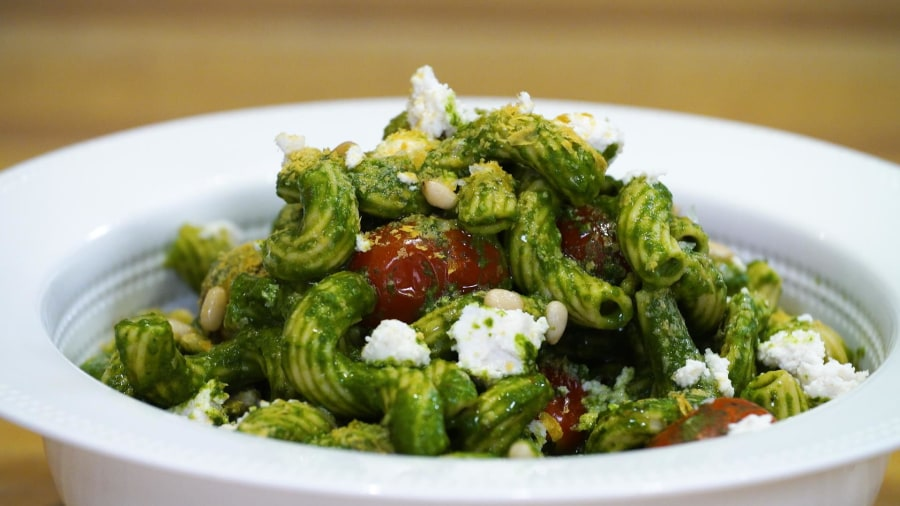This dairy-free and nut-free pesto comes together in just 5 minutes
