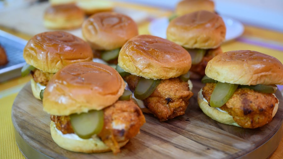 Make JJ Johnson's crispy fried chicken sandwich