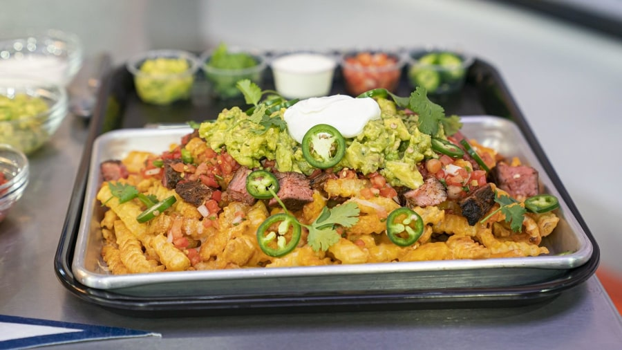 Game day snacks: Zucchini fritters and carne asada fries