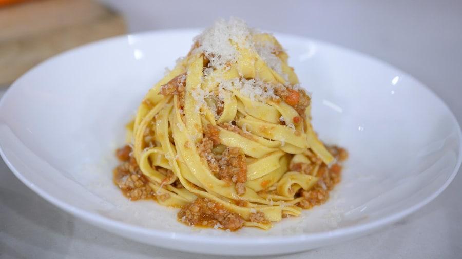 Chef Stefano Secchi whips up ragu Modenese