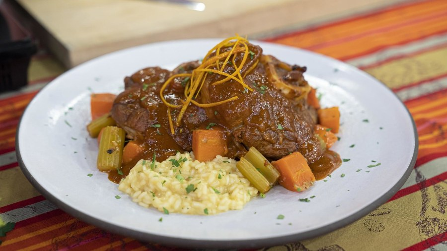 Make ossobuco Milanese style; Lidia Bastianich shows how