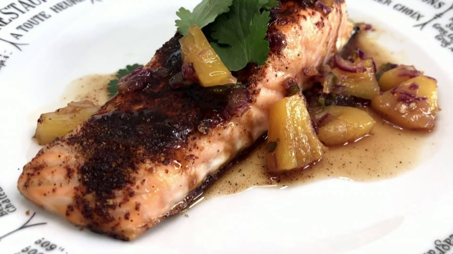 Make Katie Lee's brown sugar-chili salmon