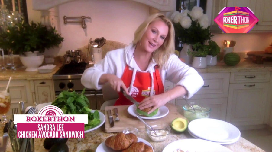 Sandra Lee creates her delicious French chicken avocado sandwich