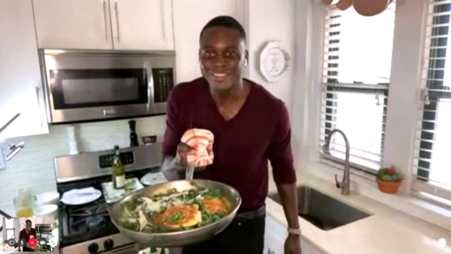 Chef Rōze Traore makes easy chicken Dijon