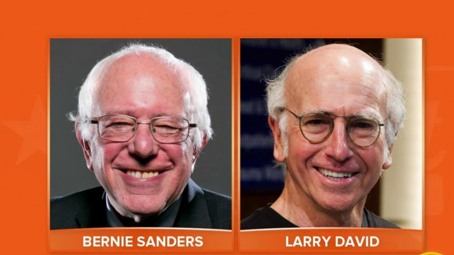 See Larry David and Bernie Sanders find out they're cousins